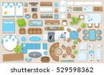 icons set of interior  top view ... | Shutterstock .eps vector #529598362