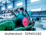 textile workshop  a working... | Shutterstock . vector #529601182
