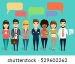 the concept of a young business ... | Shutterstock .eps vector #529602262