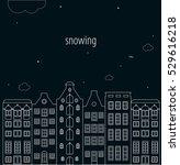 linear houses amsterdam black ... | Shutterstock .eps vector #529616218