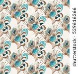 floral seamless pattern. hand... | Shutterstock .eps vector #529616266