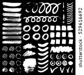 vector ink and paint textures... | Shutterstock .eps vector #529616692