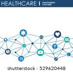 healthcare mechanism concept.... | Shutterstock .eps vector #529620448