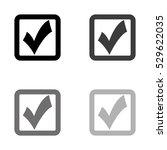checklist    black vector icon | Shutterstock .eps vector #529622035