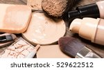 basic makeup products for... | Shutterstock . vector #529622512