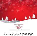 merry christmas and happy new... | Shutterstock .eps vector #529625005