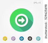 colored icon of arrow in circle ...