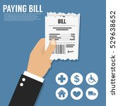 paying bill. flat icon | Shutterstock .eps vector #529638652