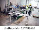 cnc machine shop with lathes ... | Shutterstock . vector #529639648