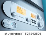 gas fired boiler control panel... | Shutterstock . vector #529643806