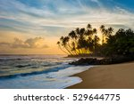 Beautiful Tropical Sunset With...