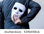 business man carrying white... | Shutterstock . vector #529645816