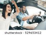 enjoying fun travel. beautiful... | Shutterstock . vector #529653412