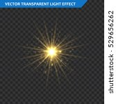 transparent glow light effect.... | Shutterstock .eps vector #529656262