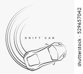 hand draw style of drift car... | Shutterstock .eps vector #529657042