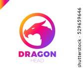 dragon logo design template... | Shutterstock .eps vector #529659646
