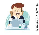illustration funny business...   Shutterstock . vector #529673146