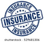 insurance. stamp. blue round... | Shutterstock .eps vector #529681306