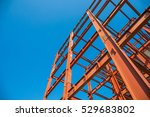 steel beam construction... | Shutterstock . vector #529683802