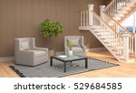 interior with chair. 3d... | Shutterstock . vector #529684585