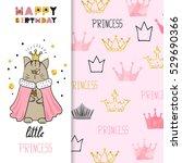 watercolor birthday greeting...   Shutterstock .eps vector #529690366