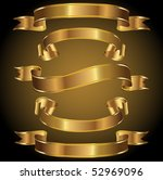 a set of gold banners | Shutterstock .eps vector #52969096