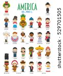 kids and nationalities of the... | Shutterstock .eps vector #529701505