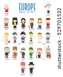 kids and nationalities of the... | Shutterstock .eps vector #529701532