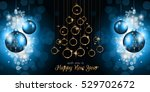 merry christmas tree flyer with ... | Shutterstock .eps vector #529702672