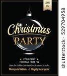 invitation merry christmas...   Shutterstock .eps vector #529704958