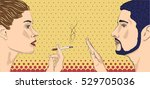 woman female girl lady smoking... | Shutterstock .eps vector #529705036