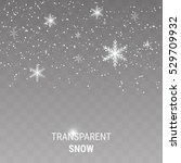 falling snow on a transparent... | Shutterstock .eps vector #529709932