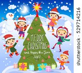 merry christmas and happy new... | Shutterstock . vector #529714216