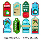 christmas gift tags vector set... | Shutterstock .eps vector #529715035