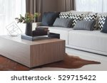 stylish living room design with ... | Shutterstock . vector #529715422
