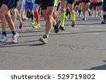 marathon running race  runners... | Shutterstock . vector #529719802