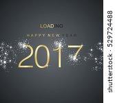 new year 2017 loading spark... | Shutterstock .eps vector #529724488