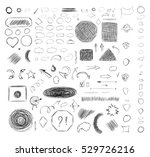 pencil sketches. hand drawn... | Shutterstock .eps vector #529726216