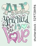 vector lettering poster with... | Shutterstock .eps vector #529728496