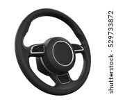 Steering Wheel Isolated. 3d...