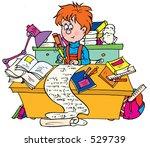 schoolboy writing cheat sheets | Shutterstock . vector #529739