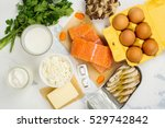 natural sources of vitamin d... | Shutterstock . vector #529742842