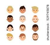 set of different cute cartoon... | Shutterstock .eps vector #529745878