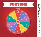 wheel of fortune vector... | Shutterstock .eps vector #529746172