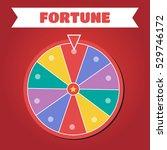 wheel of fortune vector... | Shutterstock .eps vector #529746172