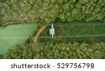aerial view of high voltage... | Shutterstock . vector #529756798