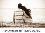 happy man and beautiful woman... | Shutterstock . vector #529760782