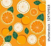 orange seamless pattern.... | Shutterstock .eps vector #529769818