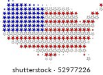 us flag map outline graphic | Shutterstock .eps vector #52977226
