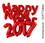red helium happy new year 2017... | Shutterstock . vector #529772866